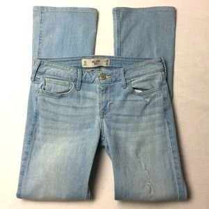 Hollister Bootcut Juniors Jeans White Distressed